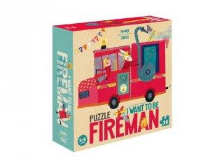Tűzoltó szeretnék lenni! puzzle, 36 db-os kirakó (3-6 év)