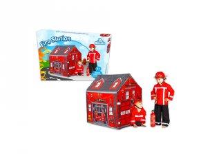 Tűzoltóállomás játszósátor (kiegészítő szerepjátékhoz, 2-6 év)