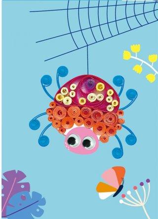Üdvözlőkártya készítő szett quilling technikával - Pillangó, kreatív készlet (Avenir, 5-8 év)