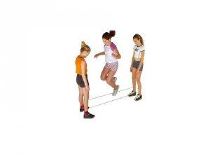 Ugráló gumi, gumi ugrálókötél gumizáshoz (HU, kerti mozgásfejlesztő játék, 6-12 év)