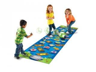 Ugrás a folyóba! készségfejlesztő játék óvodásoknak (9544, Learning Resources, Crocodile Hop játszó szőnyeg, 3-7 év)