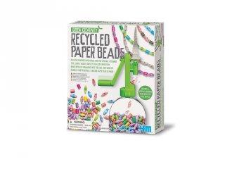 Újrahasznosított papírgyöngy készlet, kreatív szett (6-10 év)