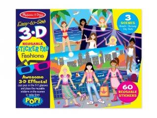 Újraragasztható 3D matrica készlet, Divat (Melissa&Doug, 9374, kreatív játék, 4-10 év)