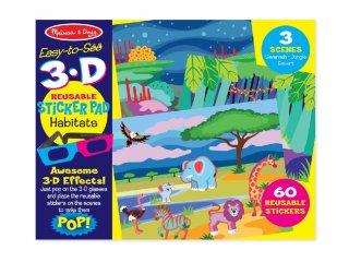 Újraragasztható 3D matrica készlet, Természet (Melissa&Doug, 9376, kreatív játék, 4-10 év)
