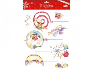 Újraragasztható Karácsony ablakmatricák, Karácsonyi díszek 30 x 38cm (Avenue Mandarine, ablakdísz, 3-7 év)
