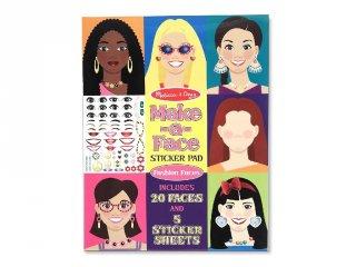 Újraragasztható matricás könyv, Arcok (Melissa&Doug, kreatív füzet, 3-8 év)