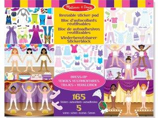 Újraragasztható matricás könyv, Öltöztető  (Melissa&Doug, kreatív játék, 3-8 év)
