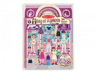 Újraragasztható pufi matricás könyv, Divat (Melissa&Doug, 9412, 196 db-os kreatív játék, 4-10 év)