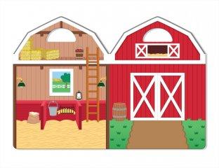 Újraragasztható pufi matricás könyv, Farm (Melissa&Doug, 9408, 52 db-os készlet, 4-10 év)