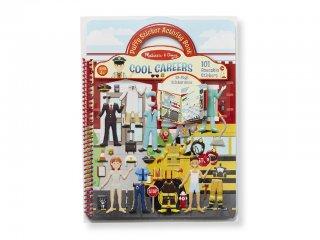 Újraragasztható pufi matricás könyv, Foglalkozás (Melissa&Doug, 9426, 100 db-os készlet, 4-10 év)