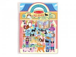 Újraragasztható pufi matricás könyv, Házi kedvencek (Melissa&Doug, 9429, 115 db-os készlet, 4-10 év)