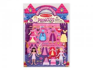 Újraragasztható pufi matricás könyv, Hercegnős (Melissa&Doug, 9100, 67 db-os készlet, 4-10 év)