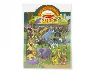 Újraragasztható pufi matricás könyv, Szafari (Melissa&Doug, 9106, 42 db-os készlet, 4-10 év)