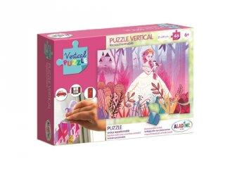Újrarakható, ablakon használható, 48 db-os puzzle - Hercegnő (AL, 6-8 év)