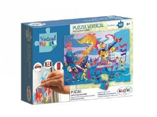 Újrarakható, ablakon használható, 48 db-os puzzle - Sárkány (AL, 6-8 év)