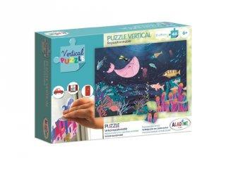 Újrarakható, ablakon használható, 48 db-os puzzle - Tenger (AL, 6-8 év)