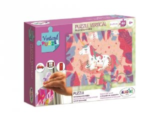 Újrarakható, ablakon használható, 48 db-os puzzle - Unikornis (AL, 6-8 év)