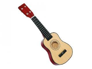 Ukulele, 4 húros mini gitár (Goki, 201, fa játékhangszer, 5-10 év)