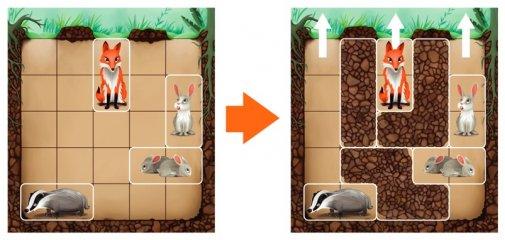 Üregező Down The Rabbit Hole, Smart Games egyszemélyes, mágneses logikai játék (5-12 év)