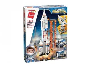 Űrkilövő állomás járművel, Lego kompatibilis építőjáték készlet (QMAN, 1140, 6-12 év)