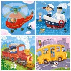 Utazás 4 az 1-ben kirakó, 12-16-20-24 db-os puzzle (DO, 3-6 év)
