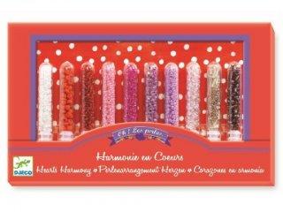 Üveggyöngyök, Szívek harmóniája (Djeco, 9813, kreatív készlet, 8-13 év)