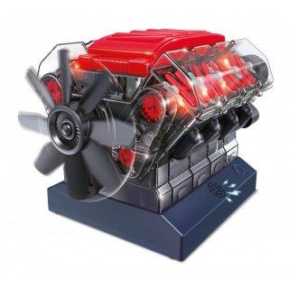 V8 motor játékmodell készítő, Buki tudományos STEM építőjáték (10-16 év)