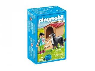 Vadászkutya házzal, Playmobil szerepjáték (70136, 4-10 év)