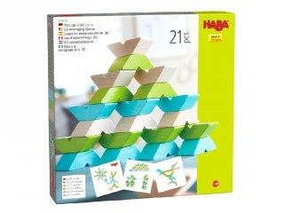 Varius 3D, 21 db-os Haba logikai építőjáték fából (3-12 év)