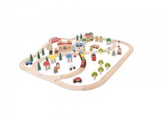 Város és vidék vonatszett (Bigjigs, vonatos játék, 3-10 év)