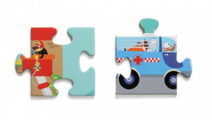 Város puzzle, 100 db-os kirakó (Scratch, 5-10 év)