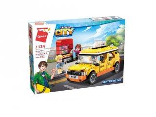 Városnéző taxi+ital automata, Lego kompatibilis építőjáték készlet (QMAN, 1134, 6-12 év)