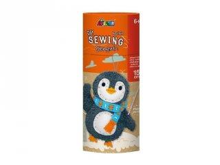 Varrható plüss kulcstartó pingvin, kreatív készlet (Avenir, 6-12 év)