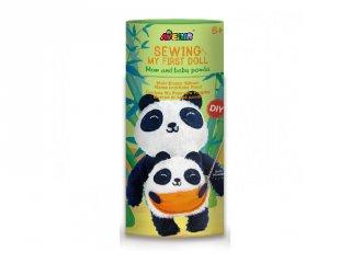 Varrható plüss panda a kicsinyével 23 cm, kreatív készlet (Avenir, 6-12 év)