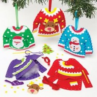 Varró szett, Karácsonyi pulcsik (BR, kreatív készlet, 5-9 év)