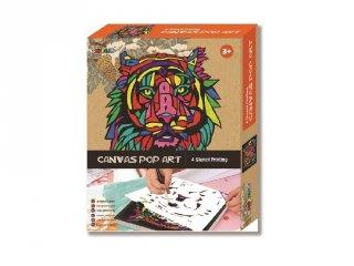 Vászonkép festés Tigris, kreatív készlet (AV, 5-10 év)