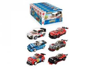 Versenyautó csomag, 6 az 1-ben Lego kompatibilis építőjáték készlet (QMAN, 4201, 6-12 év)