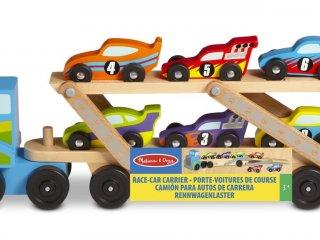 Versenyautó szállító kamion (MD, 12759, autós fajáték, 1-5 év)