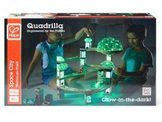 Világító fa golyópálya, Űrállomás (Hape Quadrilla, Space City, 176 db-os építőjáték, 4-99 év)