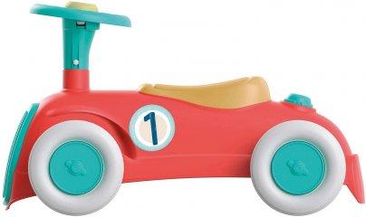 Vintage lábbal hajtható kisautó, mozgásfejlesztő bébijáték (CLEM, 1-3 év)