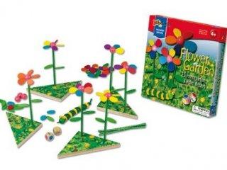 Virágoskert, mágneses fajáték (Chelona, Flower Garden, kézügyesség fejlesztő társasjáték, 3-7 év)
