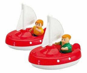 Vitorláshajók, 2 figurával (Aquaplay, 222, 2 db vizijármű, 3-7 év)