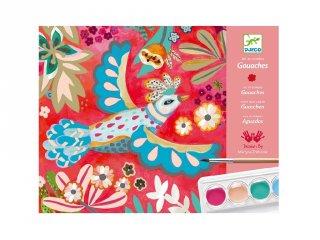 Vízfestékkel festés, Melody (Djeco, 8963, kreatív játék, 6-11 év)