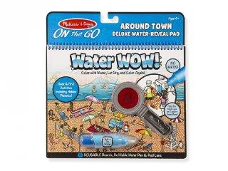 Vízzel festős deluxe készlet, A város körül, Melissa&Doug újrafesthető kreatív játék (9457, 3-6 év)
