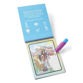 Vízzel festős minikészlet, Bibliai történetek, Melissa&Doug újrafesthető kreatív játék (2-6 év)