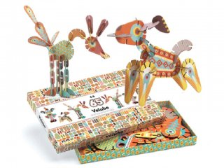 Volubo, Állatok (Djeco, 5630, 3D-s kreatív építőjáték, 4-8 év)