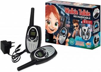 Walkie talkie tölthető akkumulátorral, Buki tudományos játék