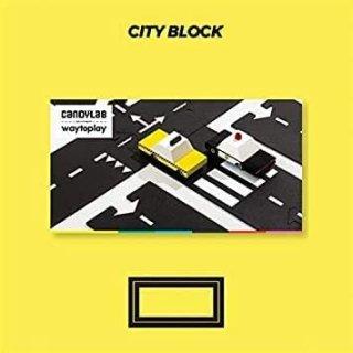 Waytoplay rugalmas autópálya matchbox és más kisautóhoz, 12 db-os építőjáték 2 db autóval, Candylab Cityblock