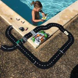 Waytoplay rugalmas autópálya matchbox és más kisautóhoz, 24 db-os építőjáték, Grand Prix