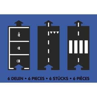 Waytoplay rugalmas autópálya matchbox és más kisautóhoz, 6 db-os építőjáték kiegészítő készlet, Egyenes